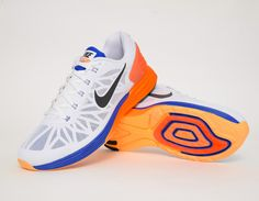 #Nike Lunarglide 6 Orange Blue #sneakers