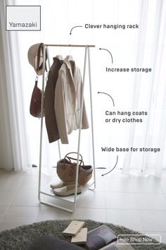 $85 · This slim, cleverly designed hanger rack is the perfect way to increase storage space in any home. It can be used to hang coats and outerwear, or clothes that need to dry after a wash.