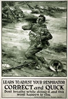 "WA27 Vintage WWI Chemical Warfare Gas Mask Safety War Poster WW1 Re-Print - A3 (432 x 305mm) 16.5"" x 11.7"" Affiche Prints http://www.amazon.co.uk/dp/B00GA88C1A/ref=cm_sw_r_pi_dp_EAeFub0BE7GN8"