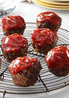Meat Loaf Miniatures love the idea of making the meat loaf in muffin tins!