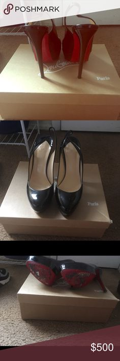 Bianca sling back In great condition. Wear on the bottom of shoes. Please see pictures. Christian Louboutin Shoes Heels