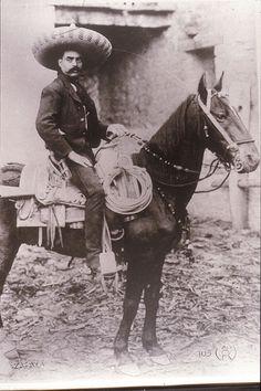 Emiliano Zapata http://www.studiolum.com/wang/mexican-revolution-zapata-on-horseback-casasola-498.jpg