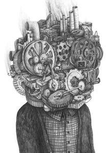 Stefan Zsaitsits - Machine.  Pencil on paper