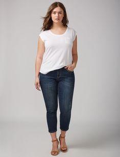 Embellished Back Pocket Crop Jean (original price, $39.99) available at #Maurices