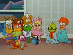 "Rare Jim Henson's Muppet Babies Cel Setup from ""Musical Muppets"""