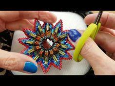 Peyote Stitch Patterns, Bead Crochet Patterns, Bead Crochet Rope, Bracelet Patterns, Beading Patterns, Beading Techniques, Beading Tutorials, Beaded Jewelry Designs, Beaded Brooch
