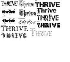 Thrive test Fonts