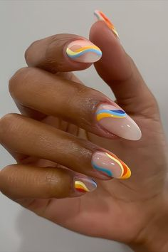 Edgy Nails, Funky Nails, Stylish Nails, Swag Nails, Funky Nail Art, Colorful Nail Art, Trendy Nail Art, Cute Nail Art, Simple Acrylic Nails