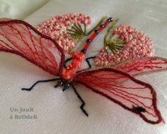 Un Jour à Broder: Libellule et points de noeud D'après le livre de Janet nicholas dragonfly