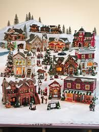 20-Piece Lighted Christmas Village Set-11537711B at The Home Depot ...