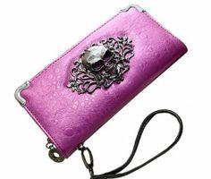 Retro Skull Wallet #skull #bags #clutch #fashion #accessories