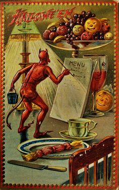 vintage everyday: Old Halloween Postcards, c. 1900's