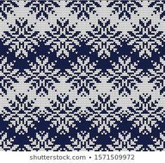 Portfólio de Gala titmouse no Shutterstock Fair Isle Knitting Patterns, Fair Isle Pattern, Knitting Charts, Weaving Patterns, Knitting Stitches, Etnic Pattern, Fair Isle Chart, Knit Edge, Boyfriend Crafts