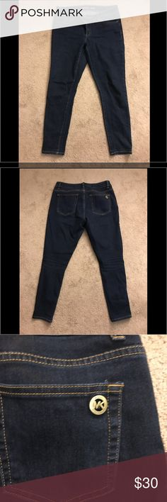 Michael Kors Skinny Jeans 6 Worn a few times. In great used condition! Darker wash. Stretchy, skinny jean. Michael Kors Jeans Skinny