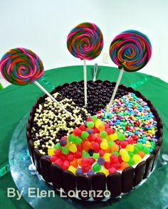 """Torta """"festa infantil""""."""