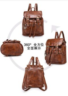 11c8479529 CIKER Fashion women fashion designer brand backpacks vintage leather  shoulder bag retro small lady schoolbag mochila cute bags-in Backpacks from  Luggage ...