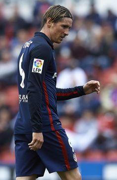 Fer con la camiseta del Atletico duranre el partido de La Liga contra Levante ( 8 mayo 2016)