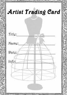 **FREE ViNTaGE DiGiTaL STaMPS**: Free Printable - Artist Trading Card Dress Form Label