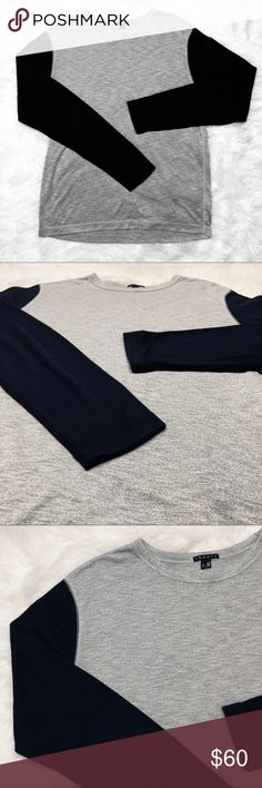 30c99c22e11984 •Theory• Long sleeve men's shirt In good gentle used condition. No holes,  stains, marks, ect... sleeves are a very dark navy blue. 🙂 OPEN TO OFFERS!!