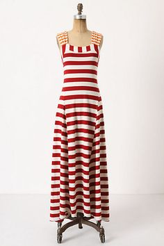 Split Stripes Maxi Dress; #garnethill, #summerstyle