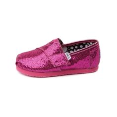Shop for Infant TOMS Classic Glitter Slip-On Casual Shoe in Fuchsia at Journeys Kidz. Shop today for the hottest brands in mens shoes and womens shoes at JourneysKidz.com.A TOMS Classic Slip-On for the tiniest of feet. Bedazzled with glitter for that extra shimmer. Hook and loop strap fastener, soft and comfy suede insole, and protective durable outsole.