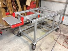 welding table plans or ideas Welding Bench, Welding Cart, Welding Jobs, Metal Welding, Diy Welding, Metal Projects, Welding Projects, Welding Ideas, Diy Projects