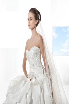 Illusions by Demetrios gown