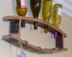 Wine Bottle & Glass Holder by WineyGuys on Etsy