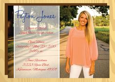 Simple and Classy Graduation Open House Invitation, Printable, DIY on Etsy, $20.00