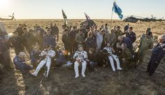 Expedition 48 Crew Lands Safely on Earth The Soyuz TMA-20M spacecraft is seen as it lands with Expedition 48 crew members NASA astronaut Jeff Williams Russian cosmonauts Alexey Ovchinin and Oleg Skripochka of Roscosmos near the town of Zhezkazgan Kazakhstan on Wednesday Sept. 7 2016 (Kazakh time).