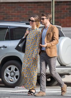 Blooming lovely: Rose Byrne looked lovely as she stepped out in New York on Sunday in a fl...
