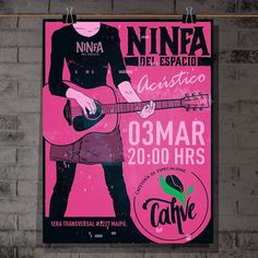 Hoy se presentó @ninfa_del_espacio  en café @cafecahve en formato acústico. Más fechas atentos en las historias.  #music #chile #unplugged #indie #rock #guitar #pinterest Chile, Broadway Shows, Indie, Nymphs, Bass, Space, Historia, Illustrations, Chili
