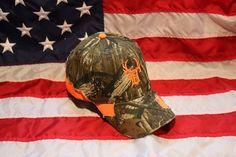 Orange & Tattered Camo Hat