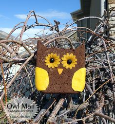 Owl Mail by Candace Jedrowicz. Transform a grout sponge into an owl postcard that you can actually mail! Clever! Featured on www.cool2craft.com #diycrafts