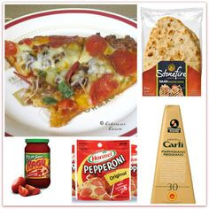 Quick Easy Pizza, Stonefire Tandoor Baked NAAN Flatbreads, Ragu Homemade Pizza Sauce, Fratelli Carli Parmigiano Reggiano P.D.O. Hormel Pepperoni, Hibiscus House Recipes,