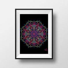 Dark Contemplation Wall Art Mandala Tapestry Print