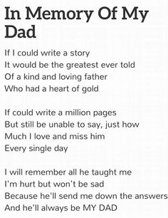 I really miss you daddy!! I still need your advice! I miss your words of encouragement!!! I wish the pain would stop and the memories of the day you died would fade away. A.N