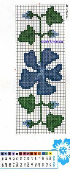 Anaide Ponto Cruz: Lindos barrados em ponto cruz de flores,Boa noite!!!