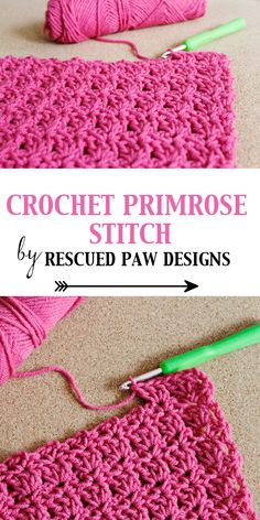 Crochet Primrose Stitch Tutorial - Free Pattern by Rescued Paw Designs
