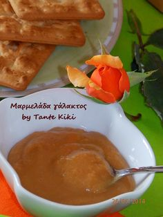 Tante Kiki: Μαρμελάδα γάλακτος Cooking Jam, Greek Sweets, Sweet Sauce, Sweetest Day, Dressing, Jelly, Dips, Sweet Days, Food And Drink