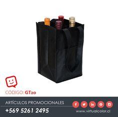 Artículos Promocionales - Productos Publicitarios - Eco Wine Bag x 4