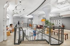 interior design of the Etsy Headquarters by Gensler - love the industrial handmade appel they managed to achieve
