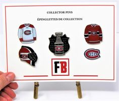 Collector pin set 5 Montreal Canadians, exclusive sets from Fanbundles, Collector pins at GREAT VALUE! Canada's sports gift box service, combos available in CAD or build your OWN BOX! Sports Gifts, Stanley Cup, Cupping Set, Fan Gear, Montreal, Nhl, Hockey, Fans, Content