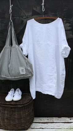 White Linen Dress MegbyDesign