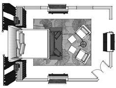 master bedroom furniture layout - Google Search