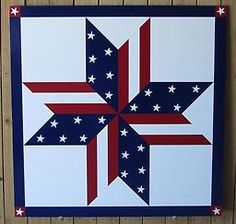 Patriotic Barn Quilt Patterns | Stars & Stripes SS0001 This stars and stripes pattern is handpainted ...
