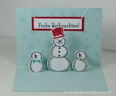Stampin' UP! - Weihnachten - Christmas - 2015 - Es schneit! - Pop up - Karte - Card - Snow Place