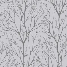 I Love Wallpaper™ Shimmer Tree Soft Grey / Silver (ILW980033) - I Love Wallpaper™ from I love wallpaper UK