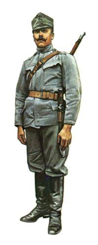 Soldado Escuadrón de zapadores, Regimiento de Dragones Nº3, 1915.