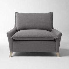 TV room, matches pull out couch. Bliss Down-Filled Chair-and-a-Half - Solids | west elm